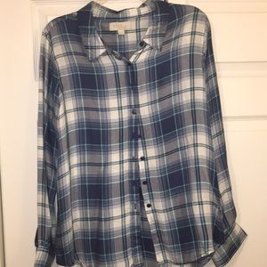 Tops - Blue Flannel